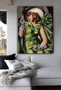 Young Girl In Green Wall Art