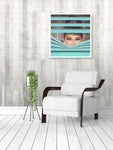 Audrey Tiffany Blue Wall Art