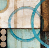 Blue and Brown Abstract (2) Wall Art