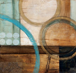 Blue and Brown Abstract Wall Art