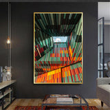 Photo of a Colorful Ceiling Wall Art