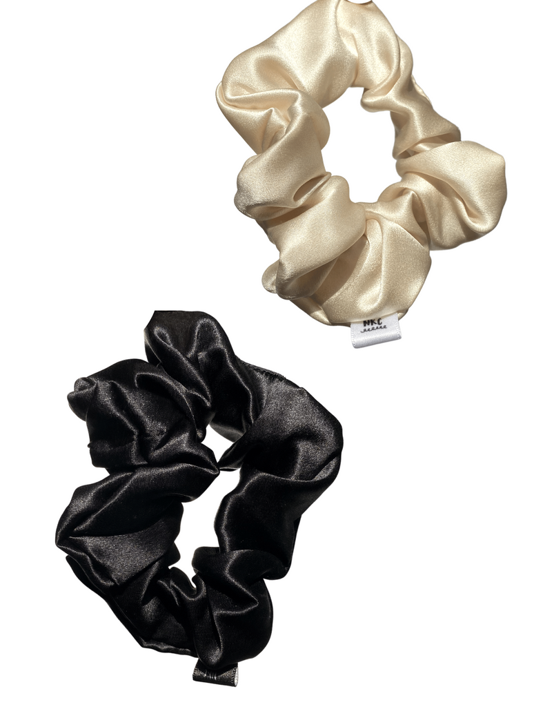 Knot Too Tight (DUO) 100% Silk Scrunchies