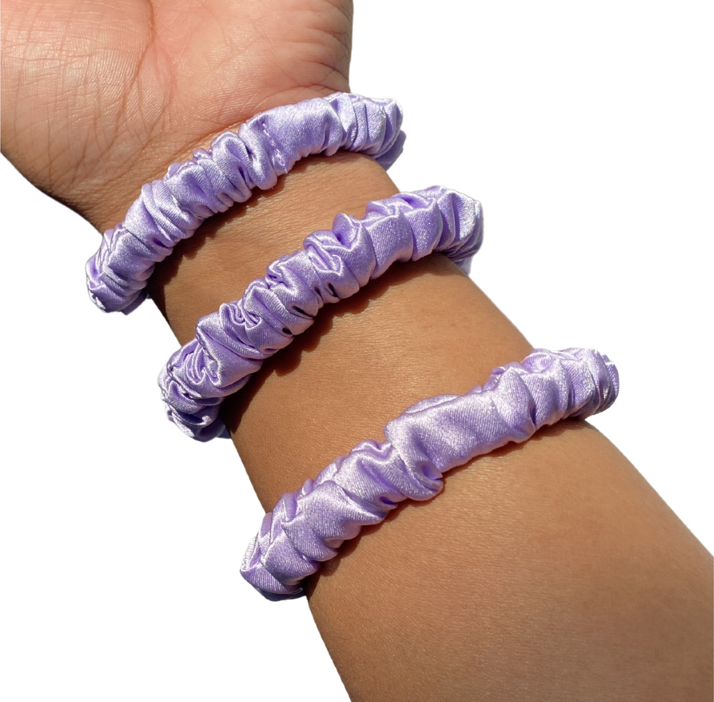 100% Silk Scrunchies Mini Trio (LILAC)