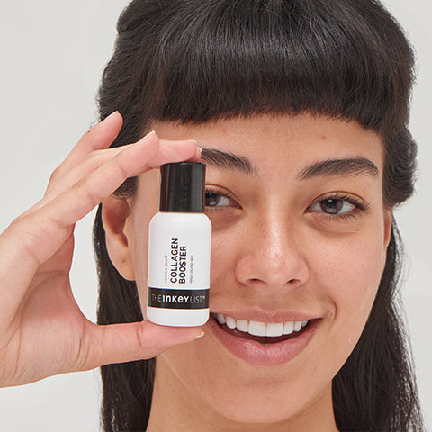 Model with Collagen Booster bottle