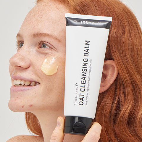 Red haired model with Oat Cleansing Balm