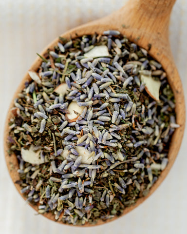 Herbal - Cuppa Lavender - 3 oz loose tea - relax into the smell and tastes of Lavender.