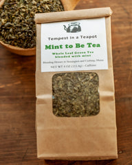 Green - Mint To Be - 4 oz loose tea - A clear refreshing green tea with spearmint