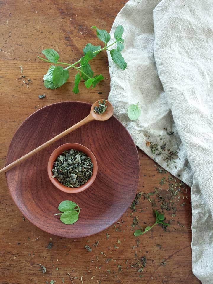 whole leaf green mint tea