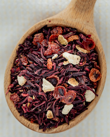 Herbal - Rosie Tea - 4 oz loose tea - Fruity - Hibiscus and Rosehip Tea - the Customers #1 favorite!