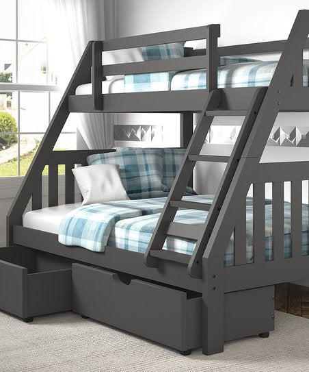 Kids Wide Mission Solid Wood Bunk Bed