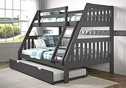 Kids Wide Mission Solid Wood Bunk Bed FREE SHIPPING