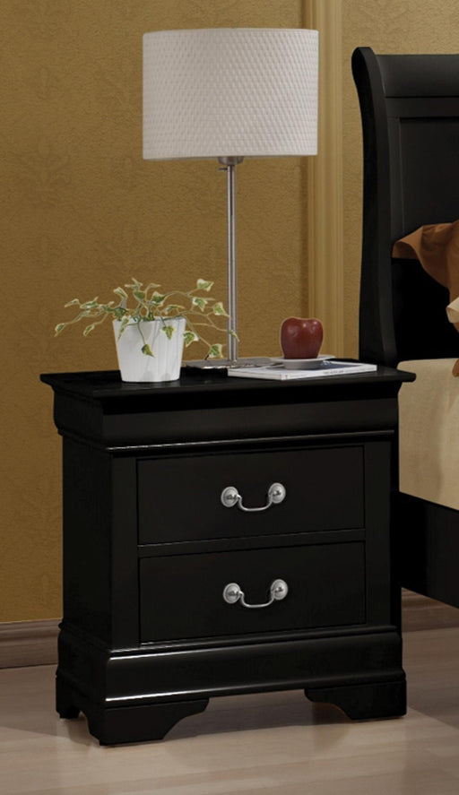 Louis Philippe Nightstand Black