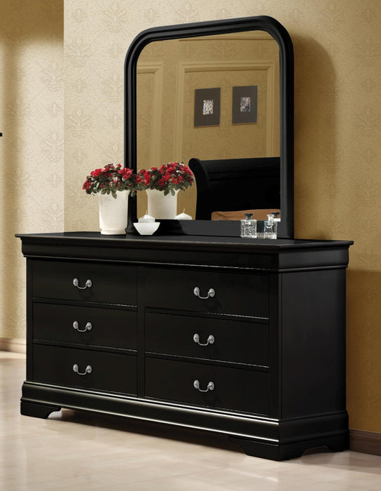 Louis Philippe Mirror Black