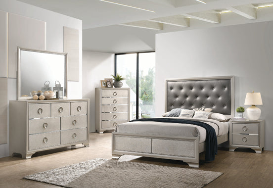 Kennedy Metallic Sterling Bedroom Collection