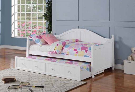 Twin Arch Bead Board Daybed in White