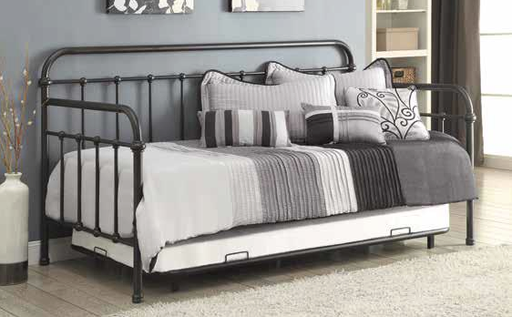 Dark Bronze Metal Daybed with Trundle