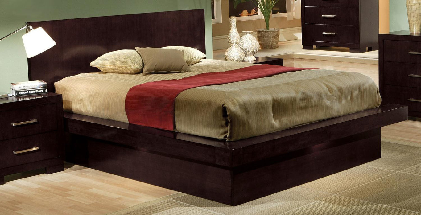 Jessica Platform Bed with Under Rail Lights