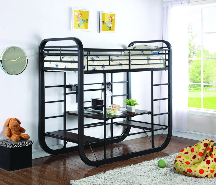 Archer Full Convertible Bunk Bed With Desk Table Bedz