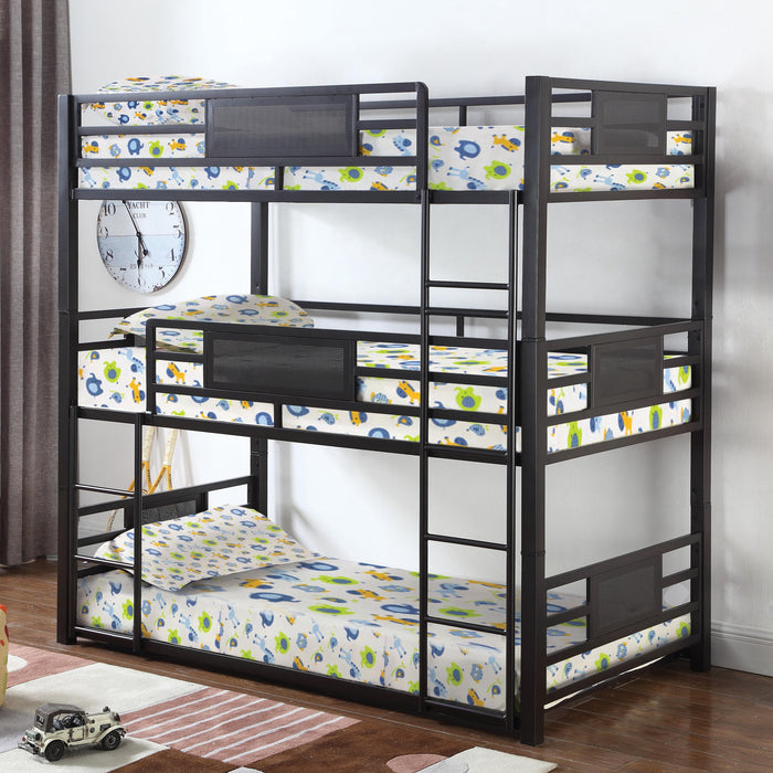 Triple Metal Twin or Full Bunk Bed