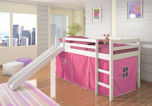 Junior Loft with Slide White/Pink FREE SHIPPING