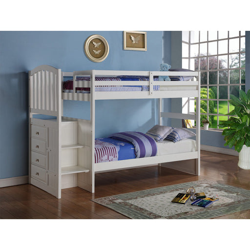 Kids Arch Mission Stairway Bunk Bed
