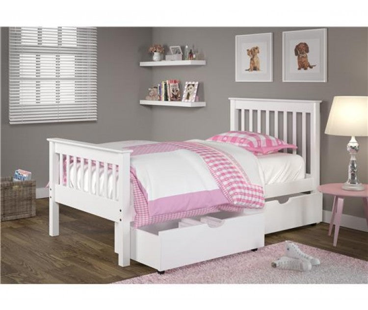 Monaco Solid Wood Platform Bed White