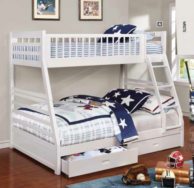 Ashton Twin Over Full Bunk Bed With Drawers Bedz