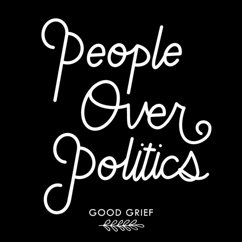 People Over Politics | Good Grief Journals | Guided Anxiety Journal