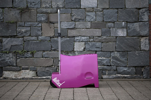 Posh Pink Rolltack, tack trolley, rolltack, saddle trolley, tack cart, saddle cart, car saddle rack, mounting block, car tack rack