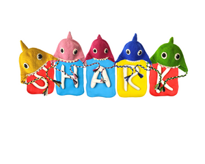 Rainbow Shark Kids Collection- Crochet Beanie Hats and Water Bottle Buddy