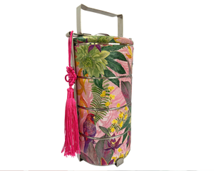 Bright Vibrant Tropical Rainforest Inspired CNY Tingkat Tiffin Carrier
