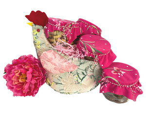 New Dawn Rooster Gift Basket Jacquard Hamper (Large) - Morning Glory Collection