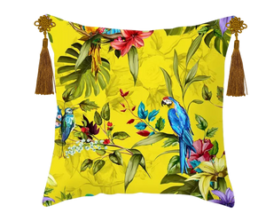 Bright Vibrant Tropical Rainforest Inspired CNY Cushion Covers