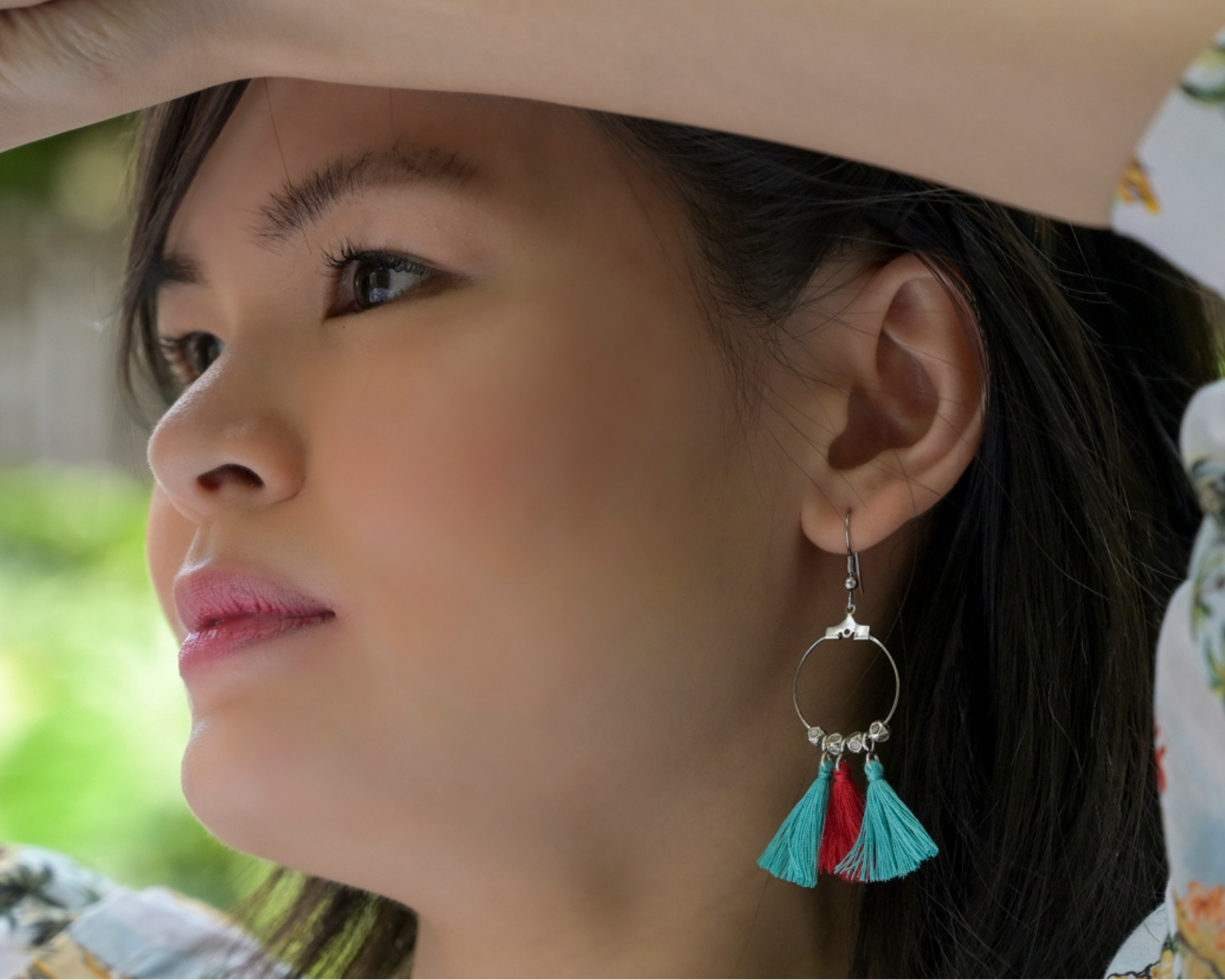 Aztec Red & Teal Ocean Earrings by #daughtersofcambodia
