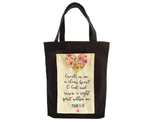 Tote Bag- The Psalms Inspirational Verses bible verse, christian gift
