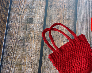 Bubbles Crochet Shoulder Tote Bag
