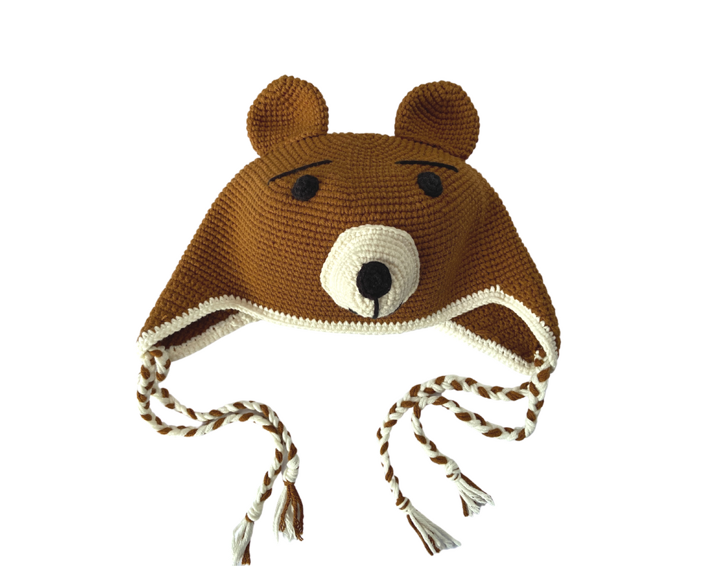 Big Bear Collection- Crochet Beanie Hat and Water Bottle Carrier