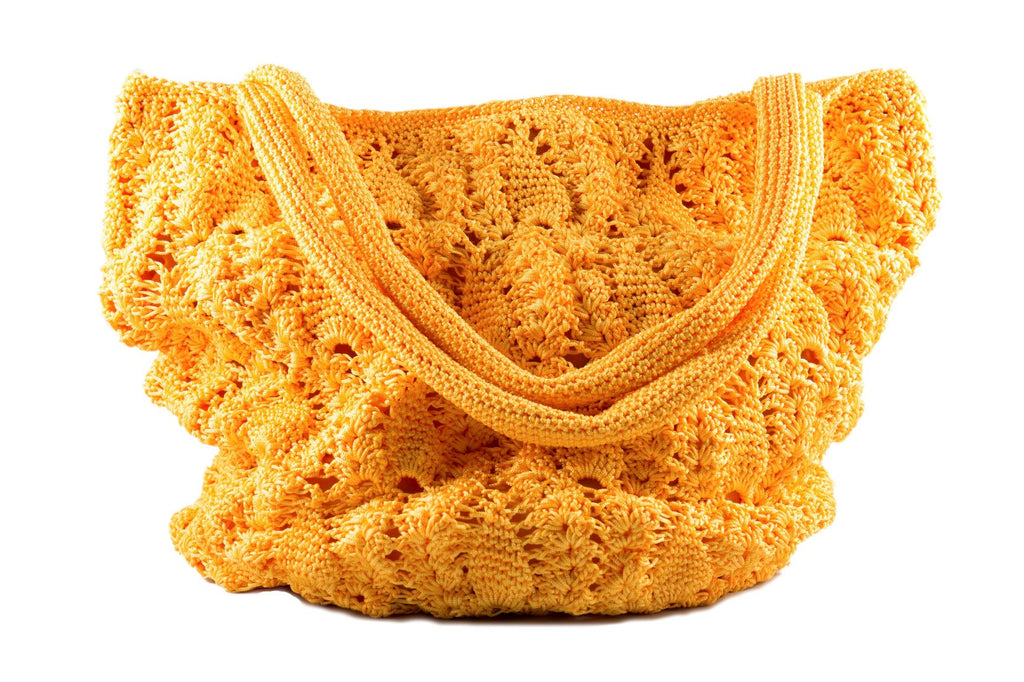 Bright & Bold Slouchy Crochet Tote Bag