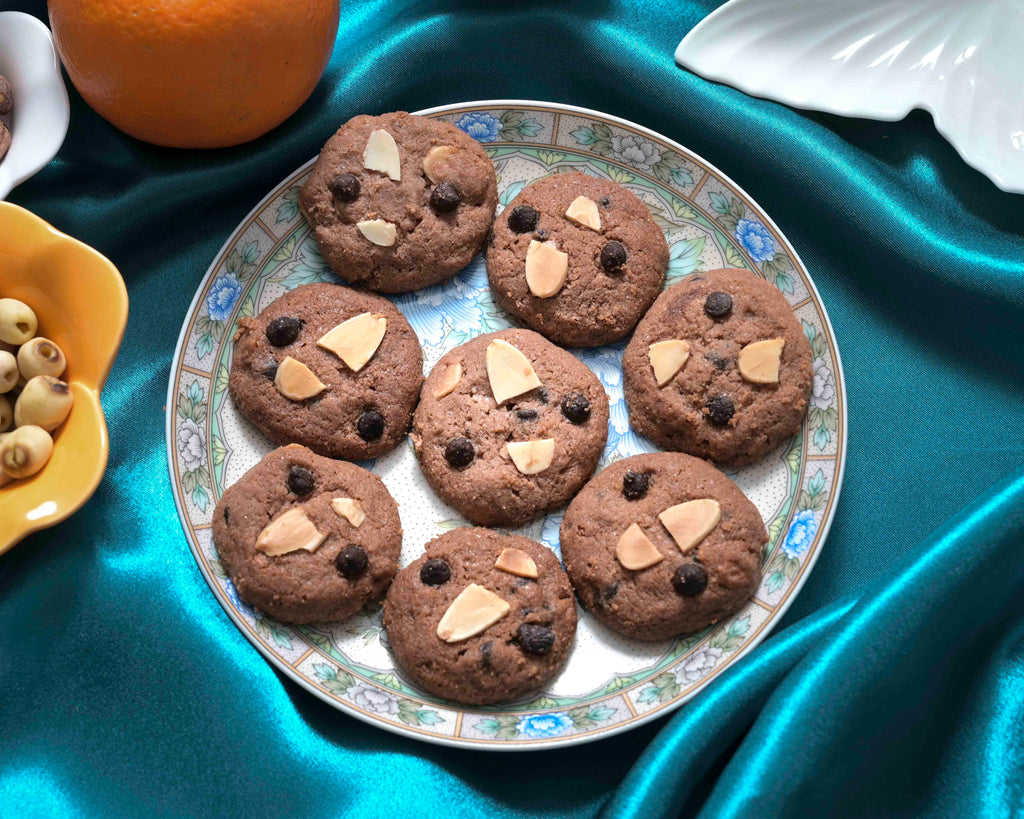 Almond Chocolate Chip Cookies by #bakesbyheni