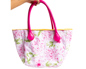 Pink Camellias Bucket Shoulder Bag