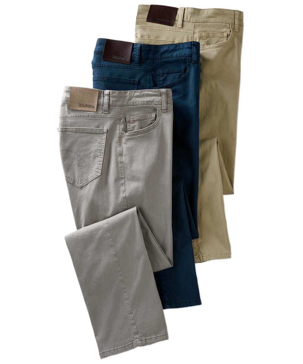 Jack of Spades High Roller Sateen 5-Pocket Pant - Stone