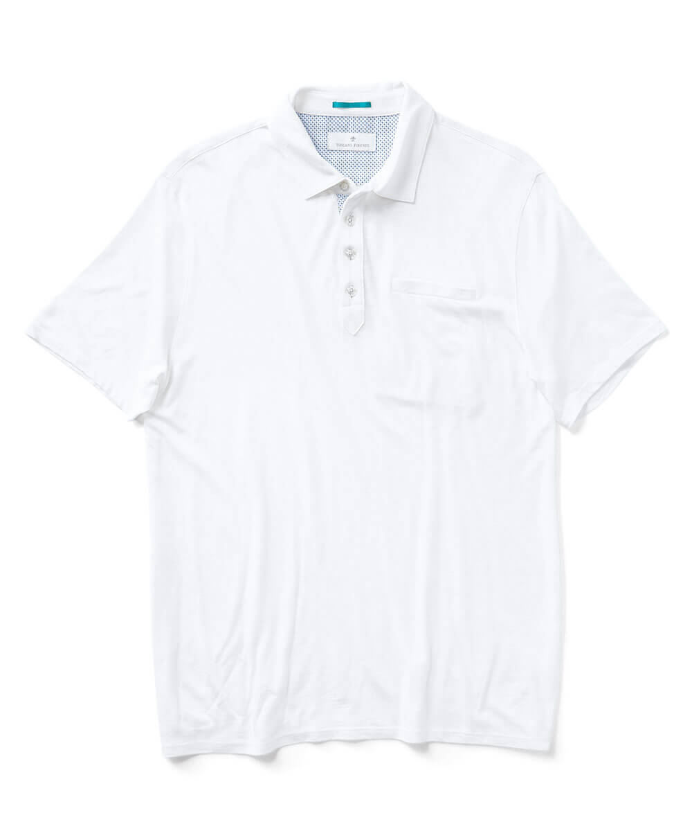 Short Sleeve Cotton Modal Slub Polo