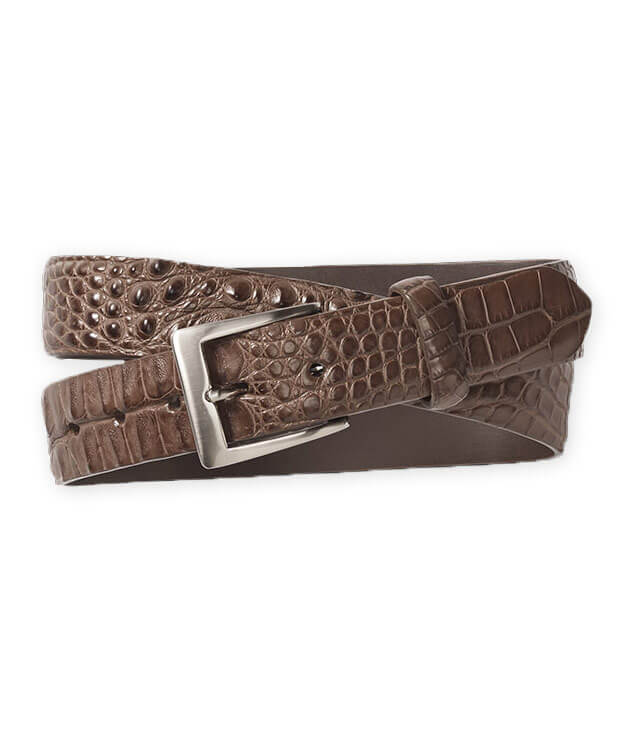 W. Kleinberg Horned Back Alligator Belt