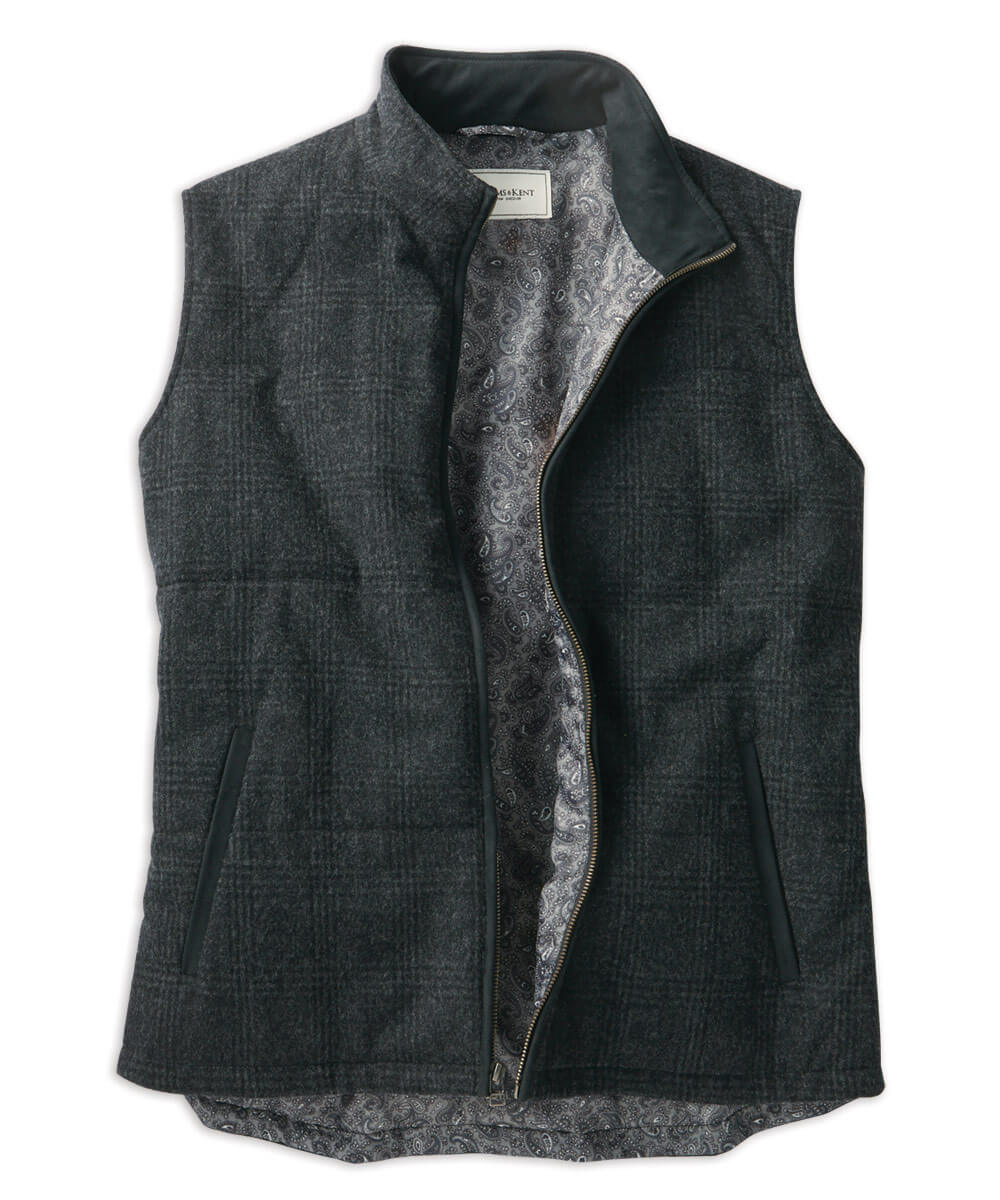 Lambswool Stretch Quilted Full-Zip Vest