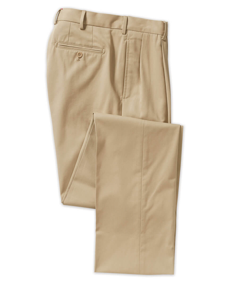 Henry Sage Pleated Pima Cotton Pant