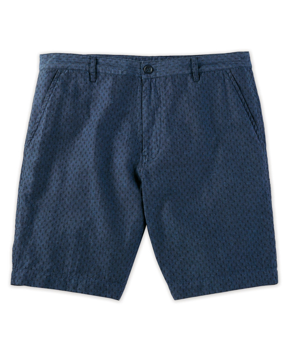 Star Jacquard Linen Short