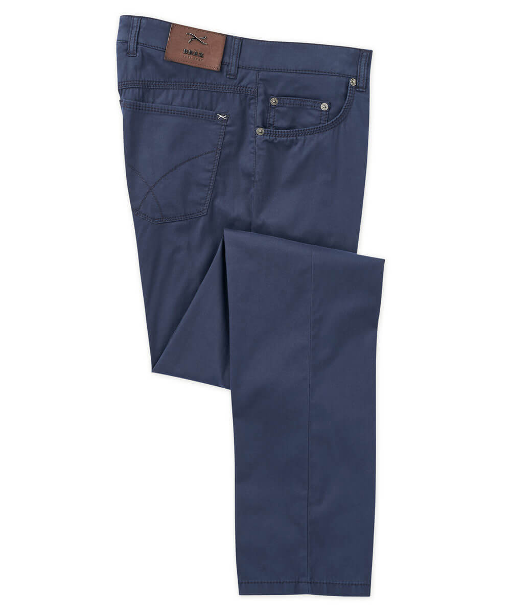 Stretch Cotton-Silk 5-Pocket Pant