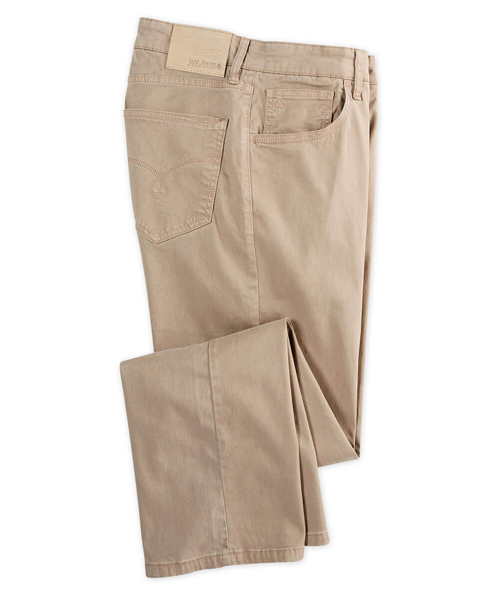 Jack Of Spades High Roller Sateen 5-Pocket Pant - Cement