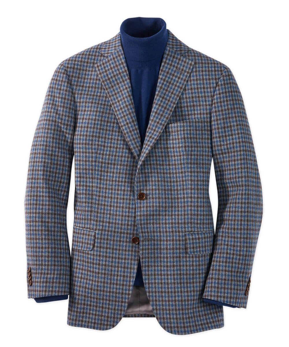 Italian Wool And Cashmere Check Sport Coat
