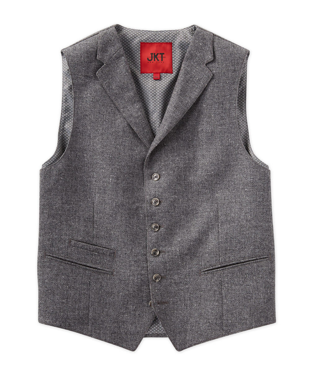 Regis Basket Tweed Tailored Vest